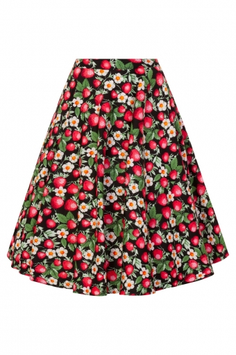 Hell Bunny Strawberry Sundae swing skirt