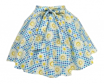 Hell Bunny Sunshine skirt in blue/white