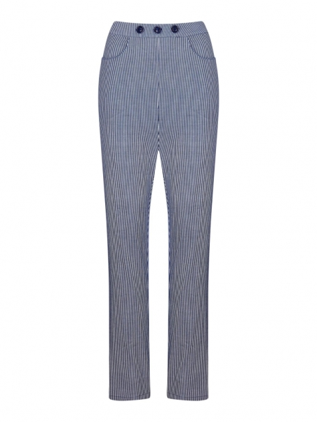 COLLECTIF VINTAGE TALIS STRIPED CIGARETTE TROUSERS