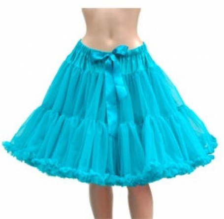 Dolly & Dotty Turquoise 4 laags petticoat rok 50-55 cm