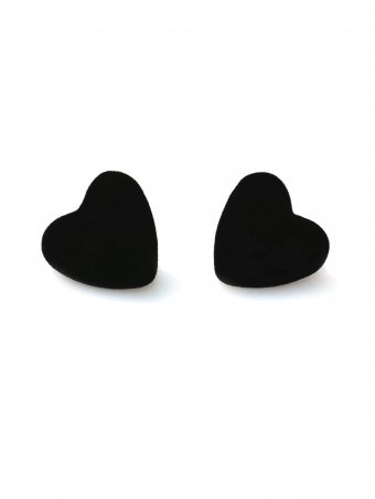 COLLECTIF ACCESSORIES VELVET HEART STUDS