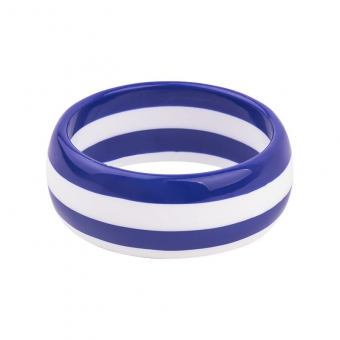 Cactula funky striped  blue and white bangle