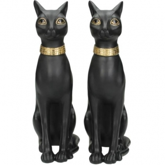 Kersten Bookstand Egyptian Cat Black 23x8x21cm